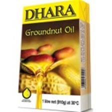 Dhara Oil - Groundnut , 1 Lt Pack