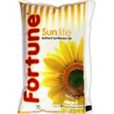 Fortune Sunflower Refined Oil - Sunlite , 1 Lt Pouch