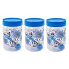SKI Easy Pet Jar Blue 1100 ML - Set Of 3