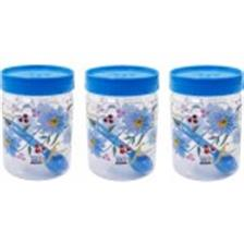 SKI Easy Pet Jar Blue 800 ML - Set Of 3