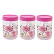 SKI Easy Pet Jar Pink 900 ML - Set Of 3